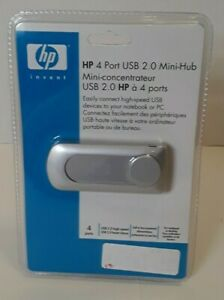 HP 4 Port USB 2.0 High Speed Mini-Hub for Notebook or PC ~ P2361AA#A2L ~ NEW