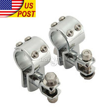 """1-1/4"""" Highway Engine Guard Foot Peg Clamps For H-D Electra Glide Classic FLHTC"""