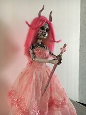 GOTHIC HORROR HALLOWEEN PRETTY LITTLE DEAD CREEPY DOLL HORNS OOAK BY JEWLFLOWER