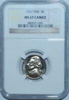 1967 MS67 Cameo SMS Mint Set Jefferson Nickel