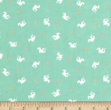 Baby Dragon Turquoise Michael Miller Fabric FQ or More 100 Cotton