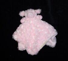 Blankets & Beyond Pink Lamb Rosette Swirl Baby Blanket Soft Plush Security Lovey