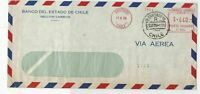 santiago 1959 large airmail stamps cover  ref 10167