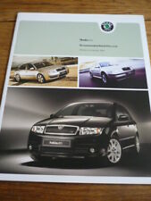 SKODA RANGE PRICE LIST AND COLOURS BROCHURE JAN. 2004