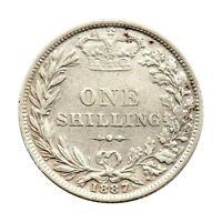 KM# 734.4 - One Shilling - Victoria - Great Britain 1887 (VF)