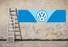 VW BLUE CAMPER workshop, garage, office or showroom pvc banner