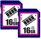 Lot 2 x FilmPro 16GB SD 16G SDHC class10 C10 2.0 secure digital memory card bulk