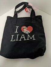 1D One Direction Tote/Shoulder Bag Black Purse I Heart ❤️ Liam & This is Us Disc