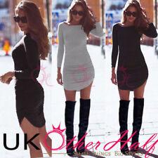 Cotton Blend Stretch Mini Dresses for Women