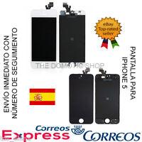 PANTALLA COMPLETA LCD TACTIL PARA IPHONE 5S CRISTAL RETINA DIGITALIZADOR NEGRA ✅