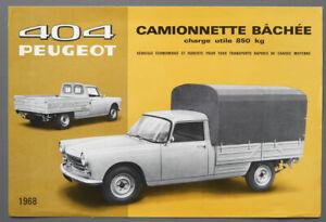 Prospekt Peugeot 404 Pritschenwagen von 1968