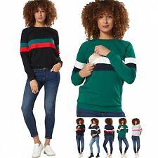 Zeta Ville Women's Maternity Nursing Zipped Sweatshirt Striped Jumper 1110