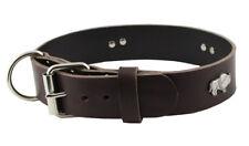 western-speicher Collier de chien cuir Indi marron taille 43cm - 49cm
