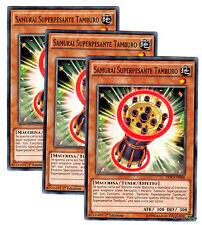 Set 3X SAMURAI SUPERPESANTE TAMBURO Superheavy DOCS-IT006 Comune ITA YUGIOH