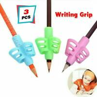 3pcs 2-finger Silicone Kid Baby Pen Pencil Holder Learning Writing Tool