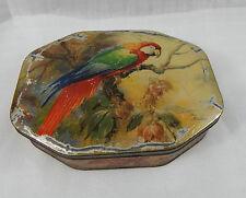 Vintage William Crawford Biscuit tin Macau on lid 25cm x18cm