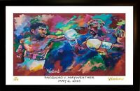 SALE 50% OFF MANNY PACQUIAO FLOYD MAYWEATHER L.E 63/199 ART PRINT SIGNED WINFORD