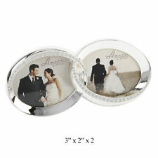 Wedding Photo Frame Amore Tarnish Free Sparkle Rings Silver Plated FS432