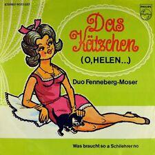 """7"""" ZWEI TIROLER JODLER-DUO FENNEBERG & MOSER Das Kätzchen (O Helen) PHILIPS 1969"""