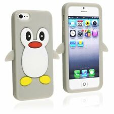 Grey Penguin Silicone Case / Cover for Iphone 4 / 4S