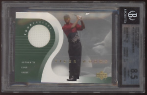 2001 SP Authentic Tour Threads Tiger Woods White Swatch Shirt RC Rookie