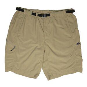 Patagonia Men's XL GI III Shorts Tan Hiking Belted *Minor Flaws