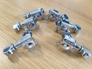 Grover Mid-Size Rotomatic Tuners / Machine Heads - Chrome - RRP £60! - UK