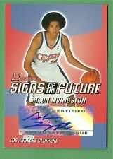 2004 Bowman Shaun Livingston signs of the future autograph rookie card Warriors
