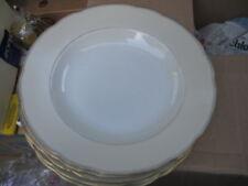 6 x tiefe große Essteller Suppenteller Teller mit Goldrand Wellenrand Vintage