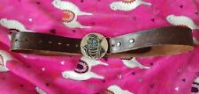 Vintage / retro Leather Belt Native American Style Indian Buckle 30 - 41 inches
