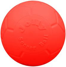 Jolly Pets Medium Soccer Ball Floating-Bouncing Dog Toy, 6 inch Diameter, Orange