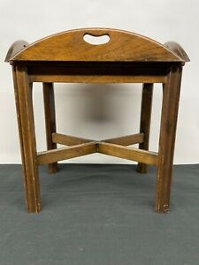 Chippendale Style Small Butlers Coffee Side Table AS IS