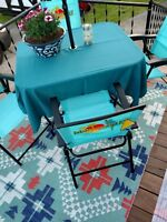 Umbrella patio tablecloth  60 x 90 rectangle  fabric polyester 74 colors