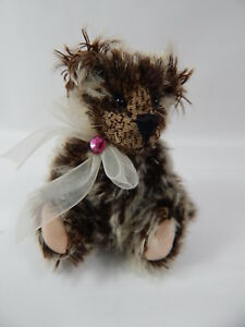 "World of Miniature Bears By Theresa Yang 4""  Bear Tippy #968 Hand made"