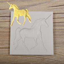 Horse Unicorn Silicone Fondant Mould Cake Decor Chocolate Sugarcraft Baking Mold