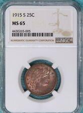1915-S Barber MS-65 Silver Quarter Dollar 25c