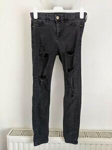 River island black skinny jeans size 12