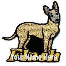 Belga Malinois Perro Custom Hierro-Sobre Parche con Nombre Personalizado Gratis