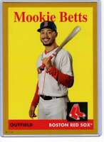 Mookie Betts 2019 Topps Archives 5x7 Gold #50 /10 Red Sox