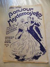 Partition Bonjour Mesdemoiselles Georges Sandé 1955