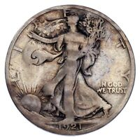 1921-D 50C Walking Liberty Half Dollar Very Good Condition, Key Date!