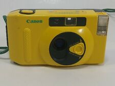 Canon Snappy S Yellow 35mm film format point & shoot camera Rare Color - PARTS