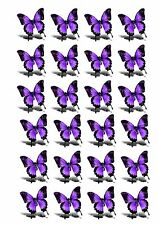 24 edible wafer rice paper cake toppers 3d effect - butterfly butterflies d16
