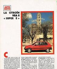 PUBLICITE  1981   CITROEN VISA 2 SUPER E