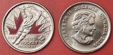 Brilliant Uncirculated 2009 Canada Men's Hockey Color 25 Cents From Mint's Roll