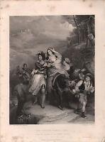 1853 Vittoriano Stampa ~ The Carrara Famiglia 1406 ~ Eastlake