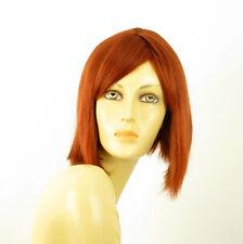 perruque femme 100% cheveux naturel mi-longue cuivré intense ref MYLENE 130