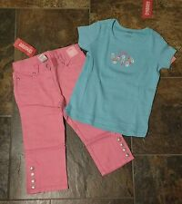 NWT Sz 6 Gymboree PARISIAN ROSE Pink Jean Capri PALM SPRINGS Daddy VIP Blue Top