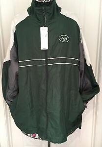 NEW New York Jets Sports Illustrated SI NFL Windbreaker Jacket Men's XL
