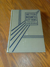 Better Business Letters by Paul V. Sheehan (1939, Hardcover) #ah